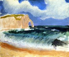 Gale at Etretat / Henri Matisse - 1920-1921