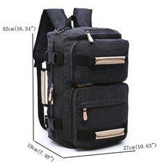 0efb39553fc4 Canvas Backpack Large Capacity Multi-functional Leisure Travel Clutch Bag  Crossbody Bag For Men Mens