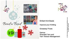 19 Bead a Bead Improve Yourself, Giveaway, Management, Notes, Quilts, Beads, Christmas Ornaments, Knitting, Gallery