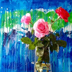 While I paint a reinterpretation of my work about Stonehenge with beautiful roses.  Raphel Fischer http://www.pinterest.com/rfischerart/