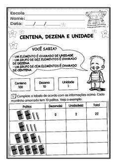 Alfabetizar com AMOR: CENTENA, DEZENA E UNIDADE - 1º ANO/ 2º ANO