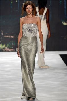 Badgley Mischka - Spring Summer 2013 Ready-To-Wear - Shows - Vogue.it ~ silver tone fashion dress