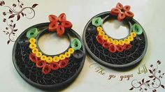 Quilling chand bali earrings