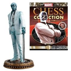Marvel Mr. Negative Black Pawn Chess Piece with Collector Magazine