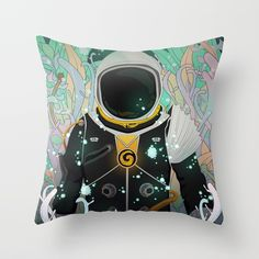 Xenesis App Throw Pillow #society6 #digital #illustration #space #astronaut #nature #plants #life #particles #decor #lights #explore #traveler #universe #planet #forest #fantasy #scifi #adventure #alien #kids