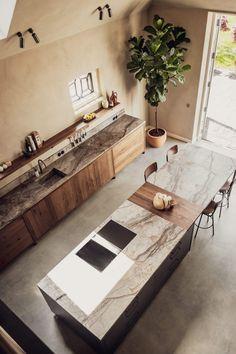 Open Kitchen, Kitchen Dining, Rustic Kitchen, Home Decor Kitchen, Kitchen Interior, Dining Room Inspiration, Interior Inspiration, Decoration, Interior Decorating