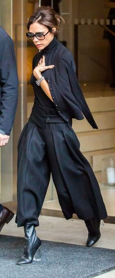 Cropped pants were made for showing off cool boots, just like Victoria Beckham.