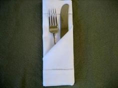 A bunch of ideas for folding linen napkins :)