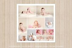 12x12 Photo Collage Template by Popuri Design on @creativemarket