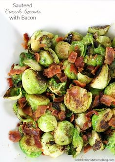 These sauteed Brussels Sprouts with bacon will make you want to eat your veggies! Get the recipe here.