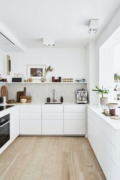 Kitchen Room Design, Modern Kitchen Design, Home Decor Kitchen, Interior Design Kitchen, Home Kitchens, Nordic Kitchen, Interior Livingroom, Interior Ideas, Minimalist Kitchen