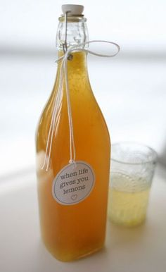 homemade lemon cordial (non-alcoholic) Lemon Cordial Recipe, Lemon Syrup, Homemade Liquor, Homemade Gifts, Homemade Alcohol, Homemade Lemonade, Cowgirl Cookies, Pesto, Gourmet