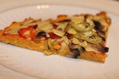 πίτσα με ζύμη γλυκοπατάτας - plantbased.gr Vegetable Pizza, Vegetables, Drink, Food, Beverage, Essen, Vegetable Recipes, Meals, Yemek