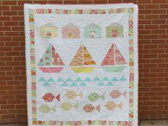 Summer beach quilt tutorial