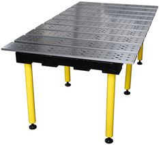 Strong Hand BuildPro Welding Table 47 In. X 38 In. -The Build Pro welding table by StrongHand Tools is one of the most adaptable welding and fixturing tables on the market today. The modular design allows the precision ground and CNC machine Welding Table Diy, Welding Cart, Welding Shop, Metal Welding, Welding Jig, Bureau Design, Table Frame, Table Height, Modular Design