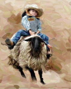 Mini Cowboy by Bob Smerecki Scott Naismith, Alison Johnson, Little Cowboy, Impressionism, Cowboys, Bob, Mini, Artwork, Artist