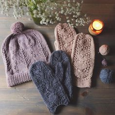 instagram @dawnincali Woodsy hat/ Woodland Tales & Moondust Mitts by Mandarine's