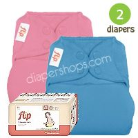 Must have #2: The Flip system is great because you can use the cloth inserts at home and the biodegradable inserts when you are traveling.  Flip offers a lot of versatility with not as much bulk to pack in your diaper bag or luggage as pockets or AIOs #clothdiapers #nopins