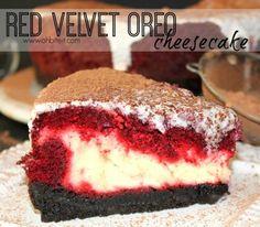 This Recipe for Red Velvet Oreo Cheesecake Combines Three Epic Elements #cheesecake trendhunter.com
