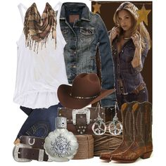 """Outlaw Country"" by sourcat on Polyvore.....Love this, of course I am a Texas girl :)"