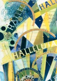 """Detail by Thomas Ingmire $14.95 ~ Pack of 10 cards (with envelopes) or $1.50 each This is a part of the illumination treatment of the text found in Isaiah 9:6 - """"For a child has been born for us"""" -- familiar to many from Handel's The Messiah, often sung at Christmas and highlighted with the Hallelujah chorus."""