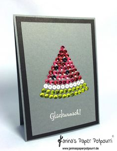 jpp - Fancy Watermelon Card / Karte Wassermelone / Sommer / Stampin' Up! Berlin Pailletten, Erfreuliche Ereignisse. www.janinaspaperpotpourri.de