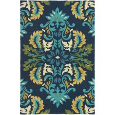 Company C Margie Ultramarine Indoor/Outdoor Rug ($56) ❤ liked on Polyvore featuring home, rugs, colored rugs, green indoor outdoor rug, navy outdoor rug, navy blue outdoor rug and navy area rug