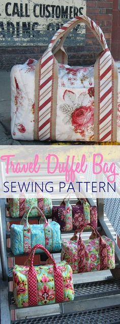 Travel duffel bag sewing pattern. PERFECT for weekends and night overs. GET THE PATTERN NOW