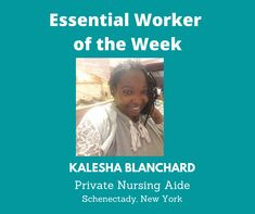 Essential Worker of the Week: Today, I'd like to acknowledge Kalesha Blanchard, a Private Nurse Aide from Schenectady, New York. We are grateful for you. Thank you for your service! Unsung Heroes by Benita Charles is an inspirational, heartfelt song that is a tribute to the Essential/Frontline workers for their service. #newmusic #unsungheroes #essentialworkers #honor #thankyou #kaleshablanchard #healthcare #newyork #awesome