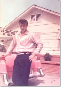 Elvis Presley with his Pink Cadillac