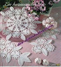 . Салфетки-10 - Все в ажуре... (вязание крючком) - Страна Мам Crochet Potholders, Crochet Doily Patterns, Crochet Motif, Crochet Doilies, Crochet Circles, Irish Lace, Irish Crochet, Mandala, Couture