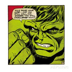 Marvel Comics Retro: The Incredible Hulk Comic Panel (aged) Posters at AllPosters.com
