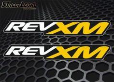 "2 RevXM 9"" Ski-Doo Snowmobile Sled Racing Vinyl Stickers"