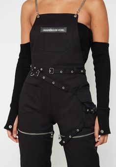 Maniere De Voir's women's jumpsuits and playsuits are perfect for every season, ranging in both casual and fitted styles. Cute Swag Outfits, Cute Comfy Outfits, Sporty Outfits, Grunge Outfits, Dungarees Outfits, Belly Shirts, Looks Black, Teen Fashion Outfits, Teenager Outfits