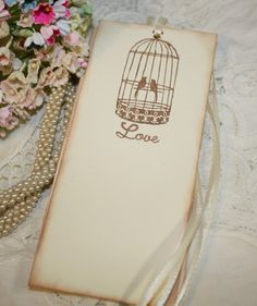 Wish Tree Wedding Tags - Vintage Birdcage - Love - Set of 25  NOTE: change to bird cage style wish tag instead of hanging style