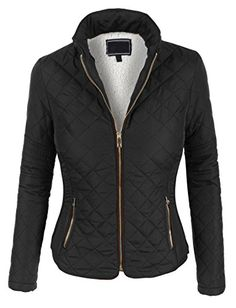 Women's Quilted Lightweight Jackets - LE3NO Womens Lightweight Quilted Puffer Zip Up Jacket with Pockets * Read more at the image link. (This is an Amazon affiliate link)