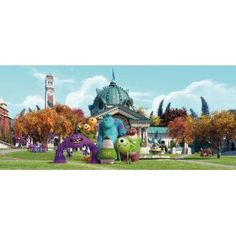 Szörny Rt. gyerek poszter (202 cm x 90 cm) Pixar, Statue Of Liberty, Disney, Mansions, House Styles, Animation Studios, Crafts, Painting, Uni
