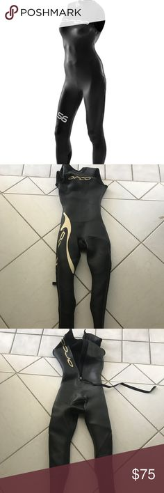 Orca sleeveless women's tri suit Only worn a couple times!! Women's tri wetsuit! There is a bit of wear in the crotch area as shown but this is great for all you the-athletes out there! It's an x-small female and retails for over $200!! orca Other