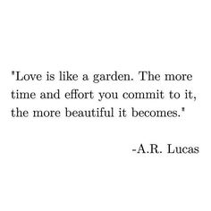 Love is like a garden!!