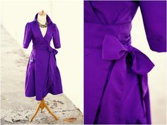 Create / Enjoy: 7 Days of Holiday Party Dresses: Kelly's rich purple wrap dress