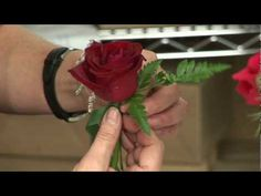 Wedding Flowers & Floral Arrangements : How to Make a Boutonniere for a Wedding or a Prom - YouTube