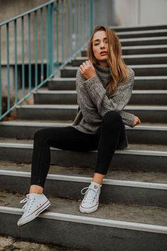 Foto Idee für Outdoor Urban Portraits - Posen für Frauen