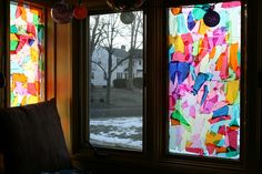 DIY Child friendly Stained Glass Windows