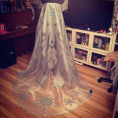 Finished Elsa's cape