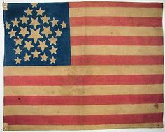IMPORTANT (2 KNOWN) c1837 OLD VINTAGE US AMERICAN 26 STAR GREAT-LUMINARY FLAG #4