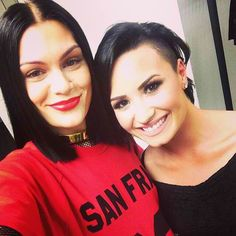 ddlovato's photo on Instagram - ddlovato    Still can't believe I got to SAAANG with this woman... #bangbang ❤️