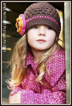 Hey, I found this really awesome Etsy listing at https://www.etsy.com/listing/106022953/girls-crochet-hat-with-flower-beanie