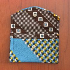 No tutorial - but cute idea.  mini-wallet made from upcycled mens ties