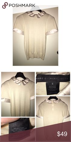 Marc by Marc Jacobs Knit Top Pre•loved Marc by Marc Jacobs Knit Top • Size Small • Soft knit with Satin collar and sleeves • Excellent condition Marc by Marc Jacobs Tops