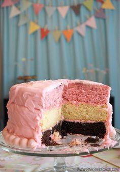 3 Layer Neopolitan Birthday Cake